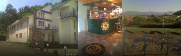 Частина готельно-ресторанного комплексу (урочисті заходи за участі міжнародних делегатів відбувалася в блоці, розташованому за фасадною будівлею)