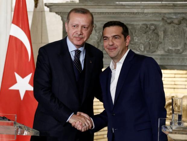 Президент Туреччини Реджеп Таїп Ердоган і прем'єр-міністр Греції Алексіс Ципрас